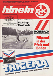 Bayer Leverkusen Programm 1987//88 SV Waldhof Mannheim